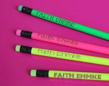 Set of 12 Personalized Pencils - Personalized Pencils, Custom Pencils, Engraved Pencils, Pencils for Kids, Cute girly pencils --6065
