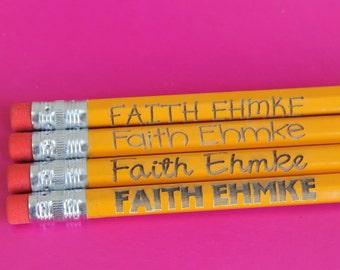 Set of 4 Personalized Pencils (3 Orders) for  Donna DelVecchio