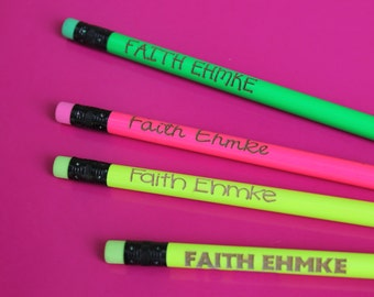 Set of 8 Personalized Pencils - Personalized Pencils, Custom Pencils, Engraved Pencils, Cute girly pencils --6065