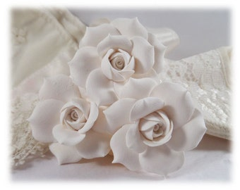 Gardenia Hair Pins - Gardenia Bridal Hair Accessories