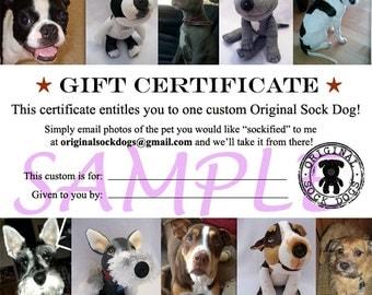 CUSTOM-Gift Certificate