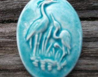 Ceramic Bird Craines Pendant