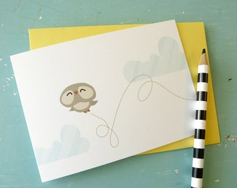 Flying Owl Card