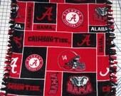 Alabama Crimsom Tide Bama Red Balck Fleece Baby  Banket Pet Lap NCAA College