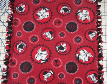Disney 101 Dalmatians Fleece Baby Blanket Security Pet Lap Baby Hand Tied Shower Gift