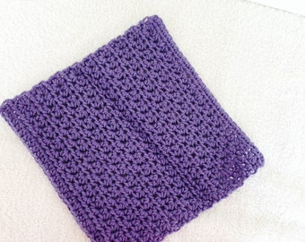Crochet Dishcloth-Country Mauve