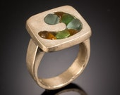 Sea Glass Rings, Sea Glass Jewelry, Wave Ring -  Sea Glass Collection