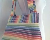 Woven Wrap Conversion Purse/Shoulder Bag Tote-  Girasol Avalon Rainbow