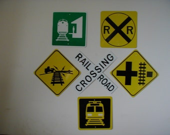 MINIATURE Railroad Train Crossing Signs Room  DECORATIONS   Free Shipping