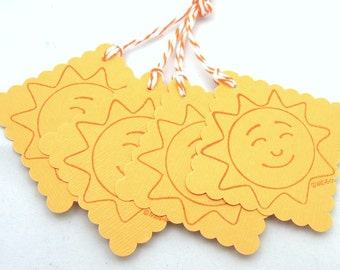Happy Sunshine Gift Tags - Set of 4