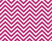 Quilt fabric, Remix chevron fabric, Cotton Fabric by Ann Kelle for Robert Kaufman- Small Chevron in Hot Pink, Fabric by the Yard