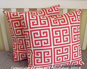 SALE* Custom Designer Home Decor Pillow Set of 2 Coral Towers With Removable Inserts READY To SHIP 16 x 16
