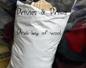 SALE * Grab Bag of WooL scraps- Aprox. 13oz. Penny Rug,  Wool , Applique, crafts- rug hooking
