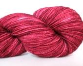 Hand Dyed Yarn – Superwash BFL High Twist Wool Nylon Sock Yarn – Maroon Semi Solid – 400 Yards – Fingering Weight Yarn