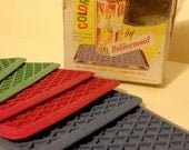 Vintage Rubbermaid Coasters Miniatures of the Famous Kar-Rugs 1950s