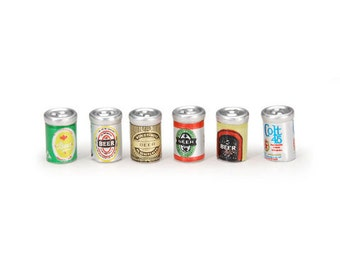 Miniature Assorted Beer Cans