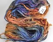 22 Silk Sari Ribbon called Blue Jeans and Roses