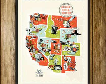 Altered States of America Regional Giclée Print