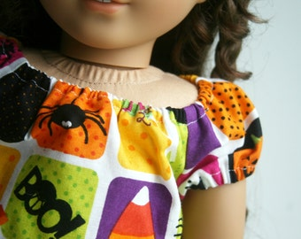 Fits like American Girl Doll Clothes - Halloween Peasant Top