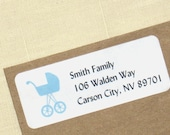 Baby Shower Return Address Labels - Choose Color - 90 Labels