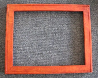 11x14 Maple with Light Curl and Orange Dye Picture Frame