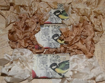 Crinkled Seam Binding  Ribbon 15 Yards - Beige Neutral Colors Trio
