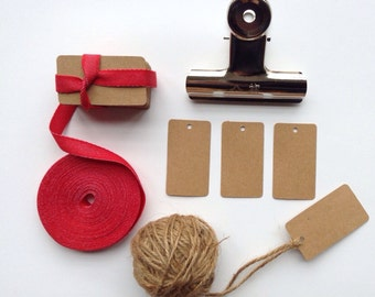 500 little Kraft card swing tags / gift tags / price tag.  Use them to finish off a pretty parcel, as wedding favour tags