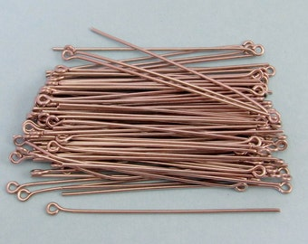 2 Inch Eye Pins, Stainless Steel, 20 Gauge, 100 pieces, SS7