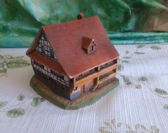 SALE CYBER Monday Little House with Blue Windows, Maison d'Argovie, Aargauer Haus, 1/2 OFF Was 25.00