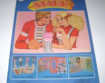 Vintage 1980s Starr Paper Doll Book for Children Uncut