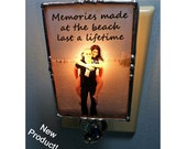 Photo Nightlight, Soldered Glass, Stained Glass Style, Personalized With Your Photo 2x3 inch Frame