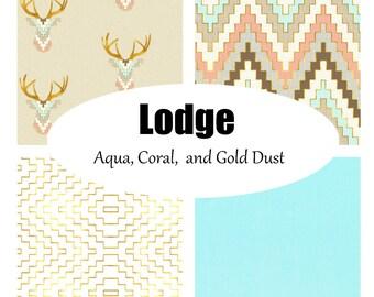 Custom Crib Bedding-3 piece-Lodge in Gold Dust