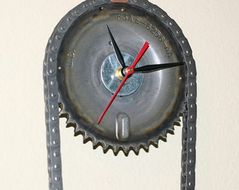 FORD Engine Timing Chain and Gears Wall Clock - Garage Decor Man Cave Art