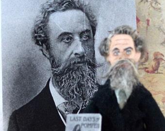 Victorian Author Bulwer Lytton Doll Miniature Classic Literature Art