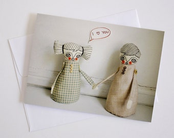 She loves you - Greeting Card - Dolls Photography