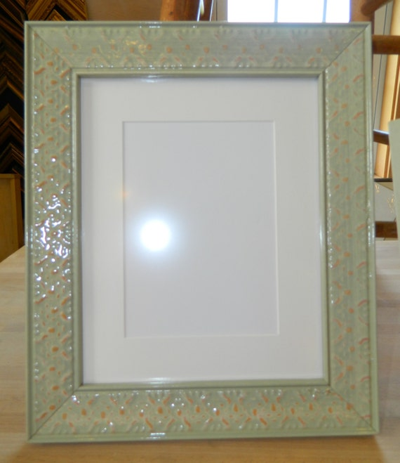16 x 20 picture frame light green wasabi wood gloss mat for 11 x 14 from. Black Bedroom Furniture Sets. Home Design Ideas