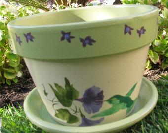 Hummingbird Flower Pot