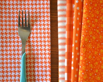 Orange Bundle of Cloth Napkins by Dot and Army