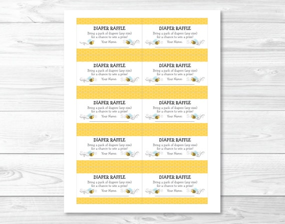 These Adorable Diaper Raffle Tickets Are The Perfect Baby Shower Activity!  Simply Insert One Along With Your Baby Shower Invitation.