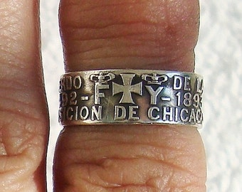 ON SALE)): Vintage Size 7 Dated 1892 Gorham World's Fair Ring   dmfsparkles