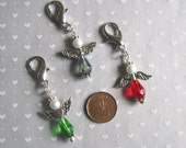 Guardian Angel Clip On Charm, Purse Jewelry, Keychain Bling