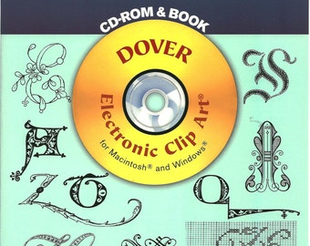 712 Decorative Letters, CD-ROM and Book by Dover (2004, Paperback) NEW
