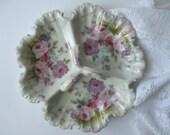 Vintage Royal Crown Chantilly Rose Handled Dish