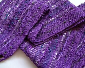 handwoven lightweight lavender scarf