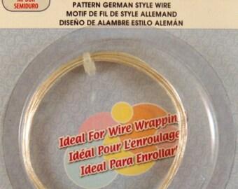 Silver Plated Wire German Style Twist Pattern 20 Gauge - 6.5 ft - 6328