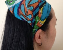 Wide Headband - Cotton Fabric, Yoga Hair Accessory, Workout Head Wrap, Women's Hair Accessory, Stretch Headband, Fabric Wrap