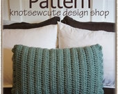 Rectangular Decorative Pillow Cover - Crochet Pattern (PDF) - INSTANT DOWNLOAD