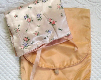 Two Satin Storage Pouches