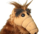 Vintage Large Alf Doll 1986 Plush Toy Brown Animal
