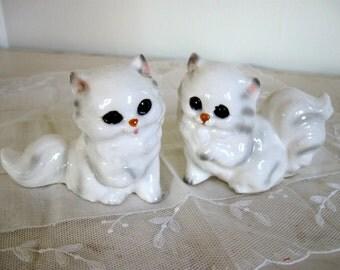 Napcoware Kitty Vintage Pair Cats Persian White C9202 Kitties Set 2 Adorale Figures